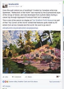 Stratford ON facebook post