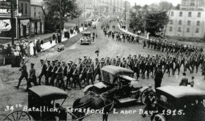 3.34th Battalion-Labour Day, 1915-#1998.9