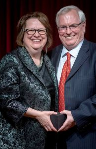 Board Chair Gail Tolley and Finance Chair Randy Matthews