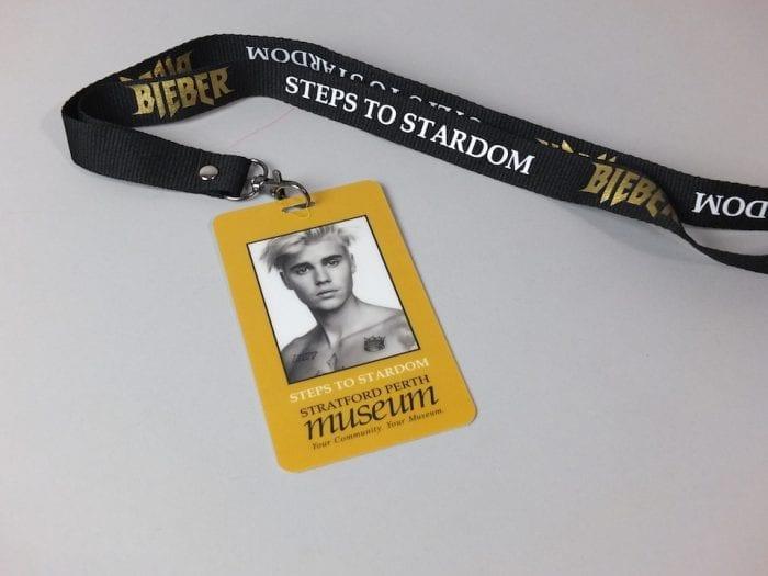 Justin Bieber Gold Lanyard