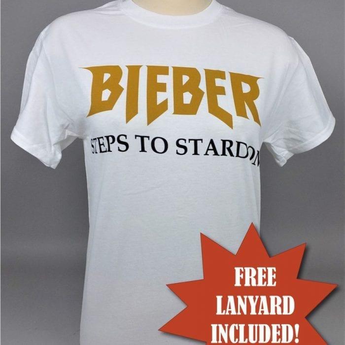 Justin Bieber Steps to Stardom T-Shirt