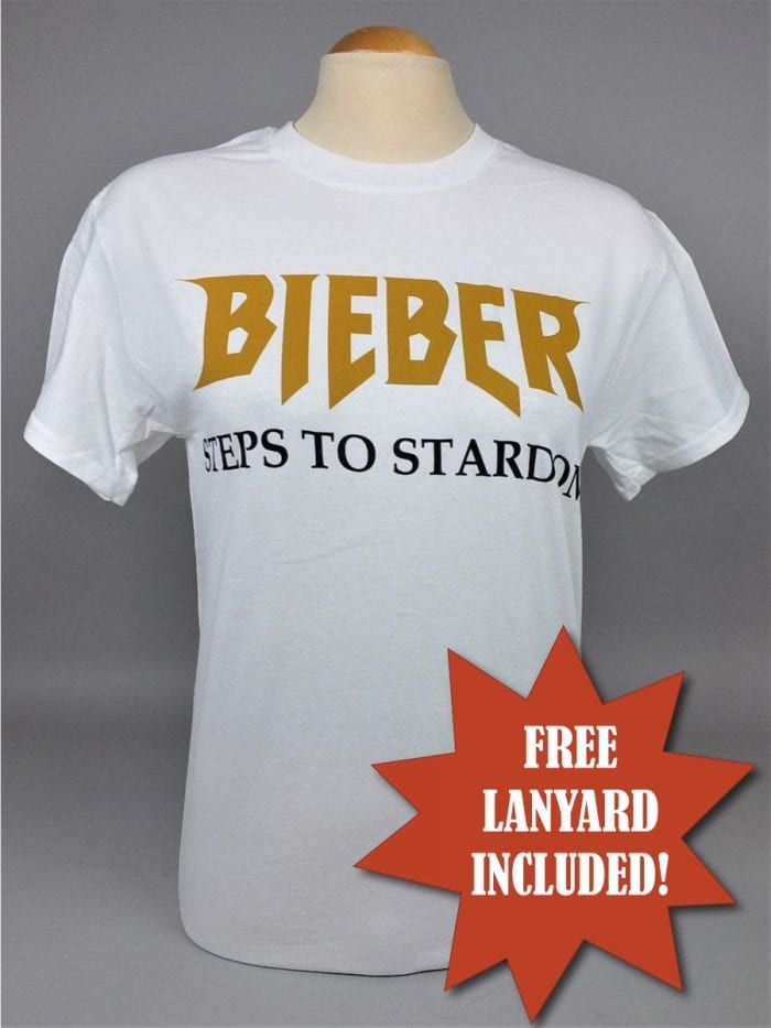 Justin Bieber Steps to Stardom T-Shirt